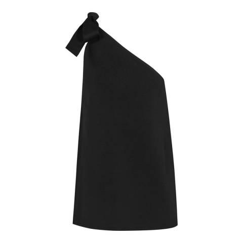Reiss Black Henrieta Knit Top