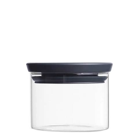 Brabantia Dark Grey Stackable Glass Jar, 0.3L