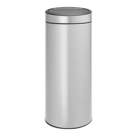 Brabantia Metallic Grey New Touch Bin, 30L