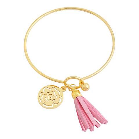 Chloe by Liv Oliver Pink Tassel Bracelet