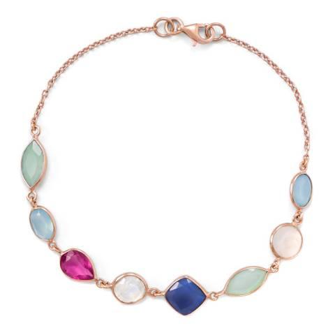 Liv Oliver Multi Shape Gemstone Bracelet
