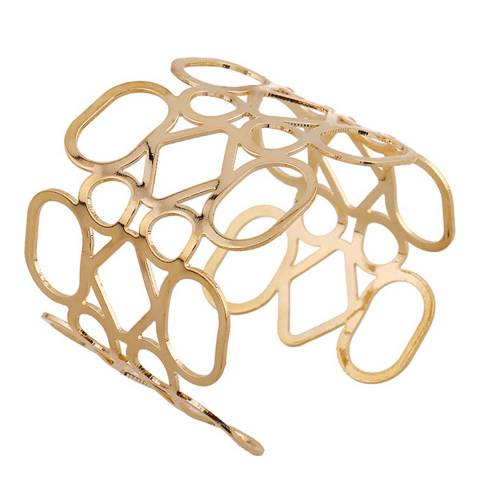 Chloe Collection by Liv Oliver Gold Plated Geometric Cuff