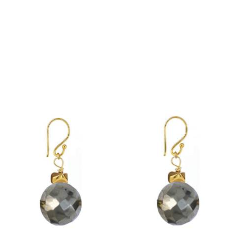 Chloe Collection by Liv Oliver Gold/Silver/Grey Drop Earrings