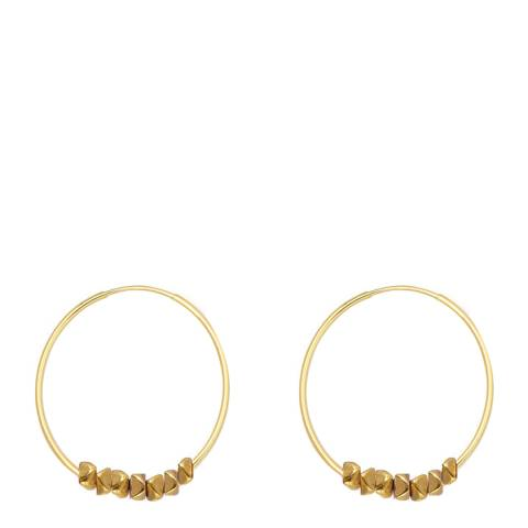 Chloe Collection by Liv Oliver Gold Beaded Hoop Earrings
