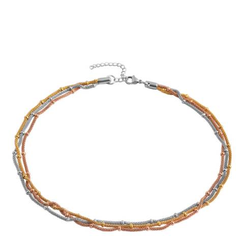 Chloe Collection by Liv Oliver Tri Colour Multi Link Necklace