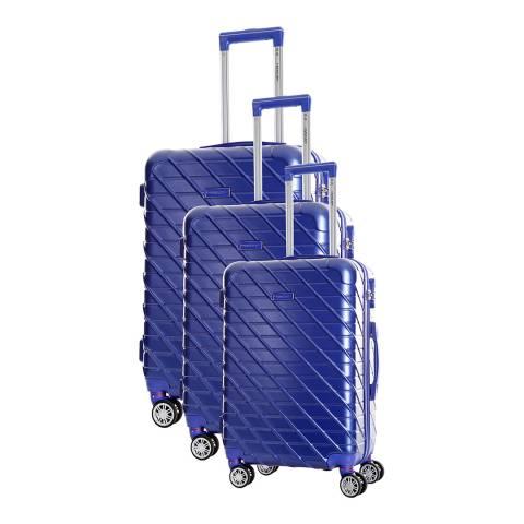 Travel One Blue Leiria Set Of Three 8 Wheeled Suitcases 46/56/66cm