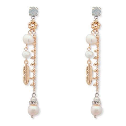 BiBi Bijoux Gold Pearl Drop Earrings