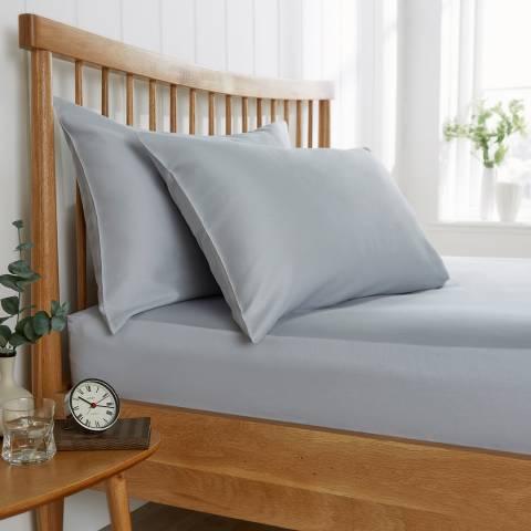 Behrens 200TC Single Flat Sheet, Pale Grey