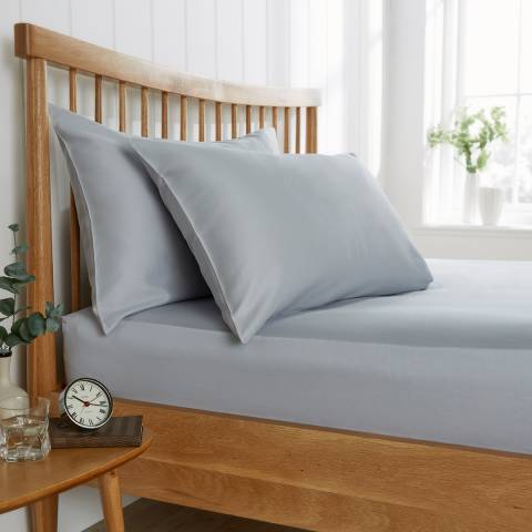 Behrens 200TC King Flat Sheet, Pale Grey