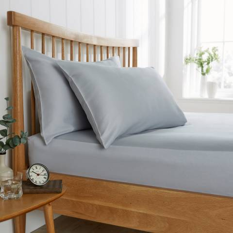 Behrens 200TC King Fitted Sheet, Grey