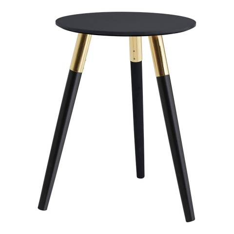 Premier Housewares Nostra Side Table, Black/Gold