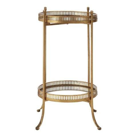 Premier Housewares Reza Mirrored Tray Table, Gold