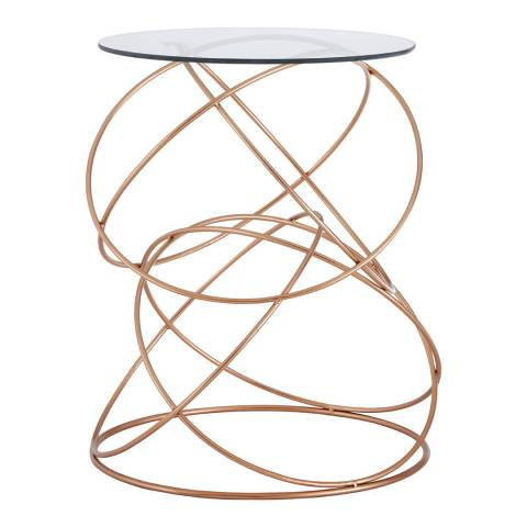 Premier Housewares Lexa Circles Table, Rose Gold