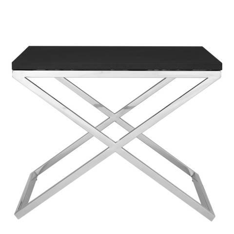 Premier Housewares Tribute End Table, Black/Silver