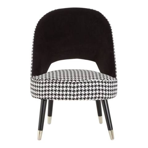 Premier Housewares Regents Park Two Tone Chair, Black
