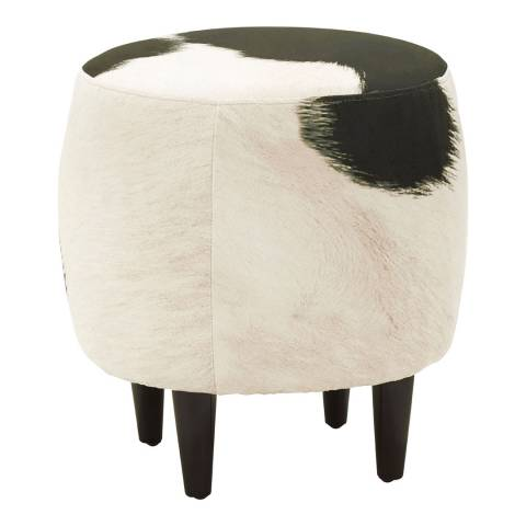 Premier Housewares Ringo Drum Shape Stool, Cowhide