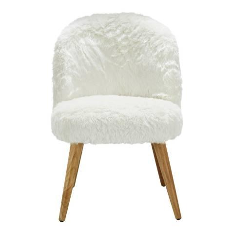 Premier Housewares Cabaret Chair, White
