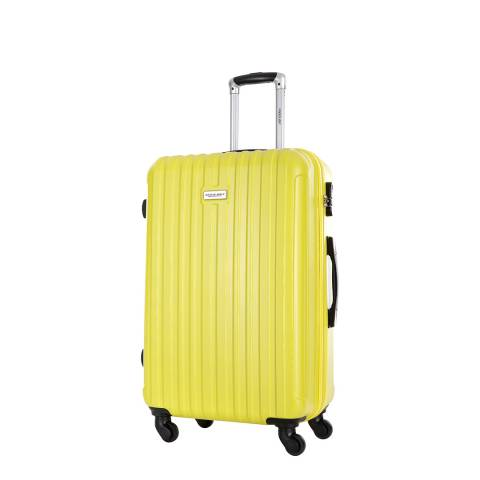 Travel One Yellow Paterson 4 Wheeled Suitcase 55cm
