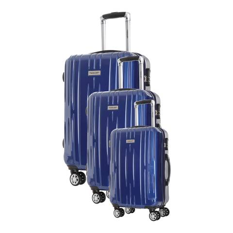 Travel One Blue Clifton Set Of Three 8 Wheeled Suitcases 45/55/65cm
