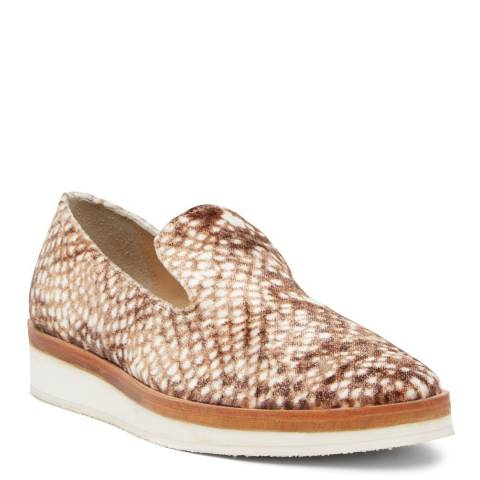 Free People Taupe Snake Eyes Loafers