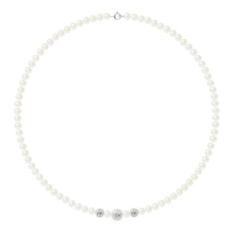 Wish List Silver/White Freshwater Pearl Necklace