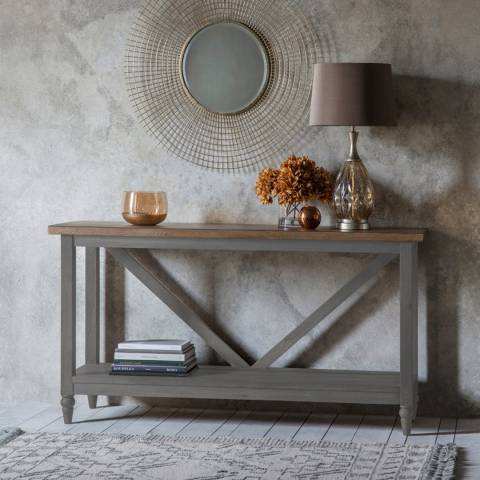 Gallery Cookham Trestle Console Table, Grey
