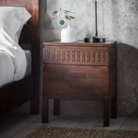 Gallery Boho Retreat Bedside 2 Drawer Chest