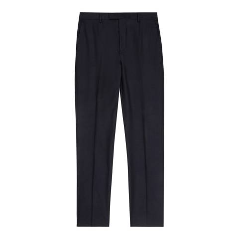 Reiss Navy Harry T Wool Suit Trousers