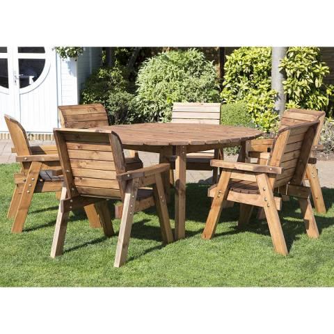 Charles Taylor Six Seater Circular Table Set (Chairs)