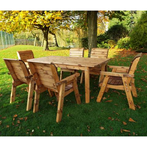 Charles Taylor Six Seater Rect Lg Table Set (Chairs)