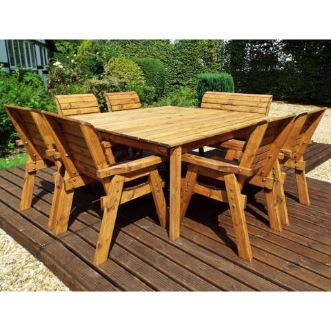 Charles Taylor Eight Seater Deluxe Square Table Set