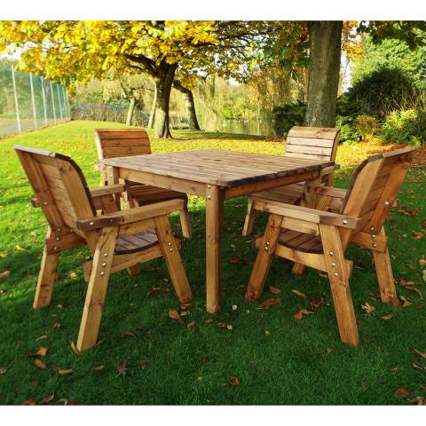 Charles Taylor 4 Seater Square Dining Table Set