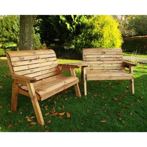 Charles Taylor Twin Bench Set Angled