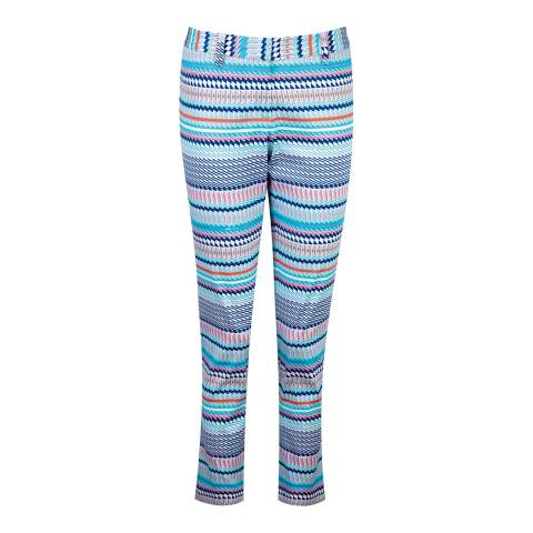 Pure Collection Multi Tile Print Capri Trousers