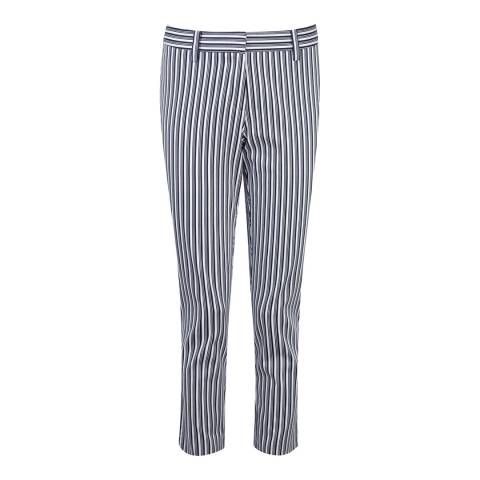 Pure Collection Navy Double Stripe Capri Trousers