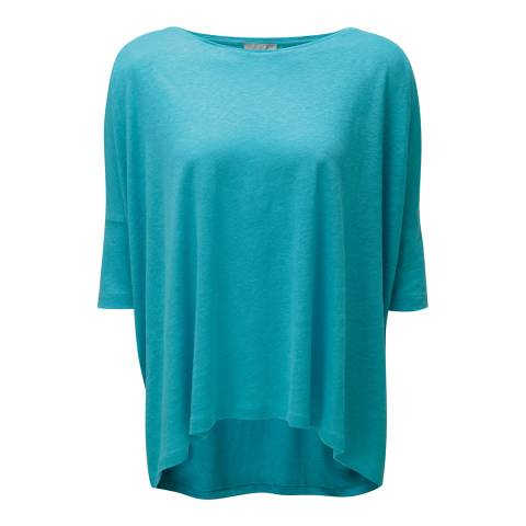 Pure Collection Aqua Luxury Linen Poncho