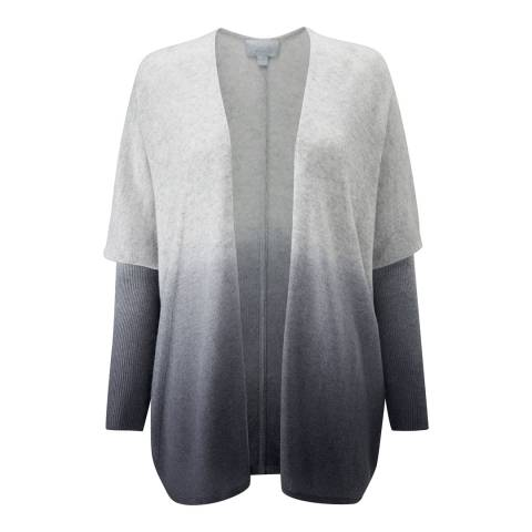 Pure Collection Grey Dip Dye Relaxed Cashmere Cardigan