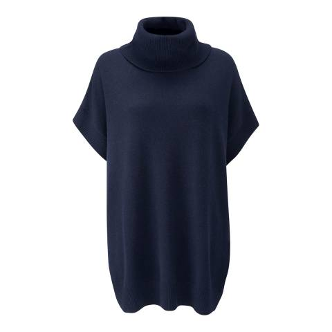 Pure Collection Navy Tabard Cashmere Jumper
