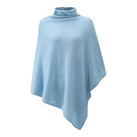 Pure Collection Antique Blue Soft Cowl Cashmere Poncho