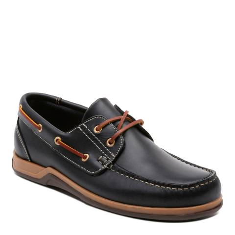 Ortiz & Reed Dark Navy Leather Colina Boat Shoes