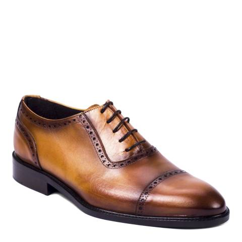 Ortiz & Reed Tan Leather Confort Oxford Brogues