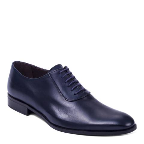 Ortiz & Reed Navy Leather Craken Oxford Shoes