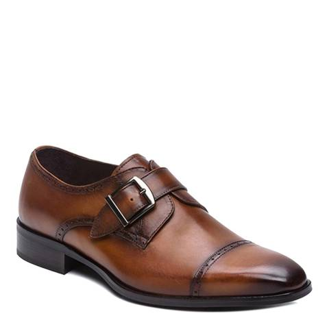 Ortiz & Reed Tan Leather Dakota Monkstrap Brogues
