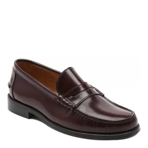 Ortiz & Reed Burgundy Leather Facio Loafers