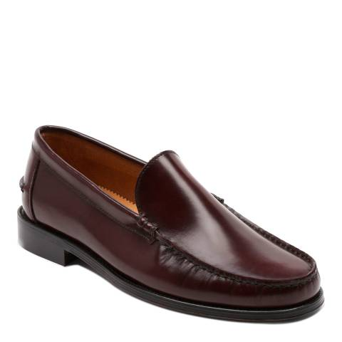Ortiz & Reed Burgundy Leather Fadio Loafers