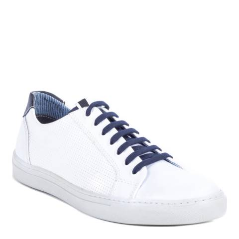 Ortiz & Reed White/Blue Leather Natrang Trainers