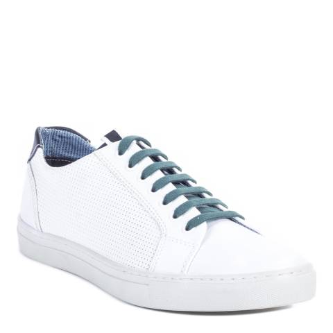 Ortiz & Reed White/Green Leather Natrang Trainers