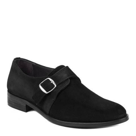 Ortiz & Reed Black Suede Sabelo Monkstrap Shoes