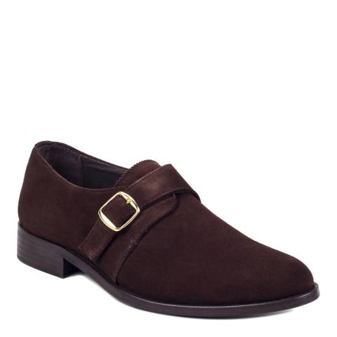 Ortiz & Reed Brown Suede Sabelo Monkstrap Shoes