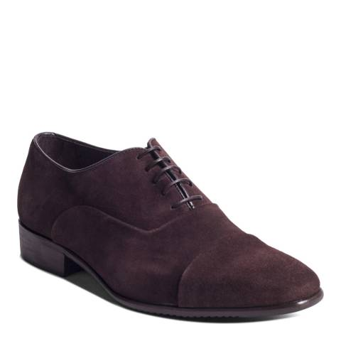 Ortiz & Reed Brown Suede Schultz Oxford Shoes